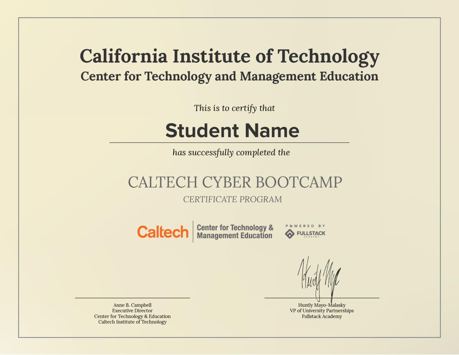 Caltech CEU Example